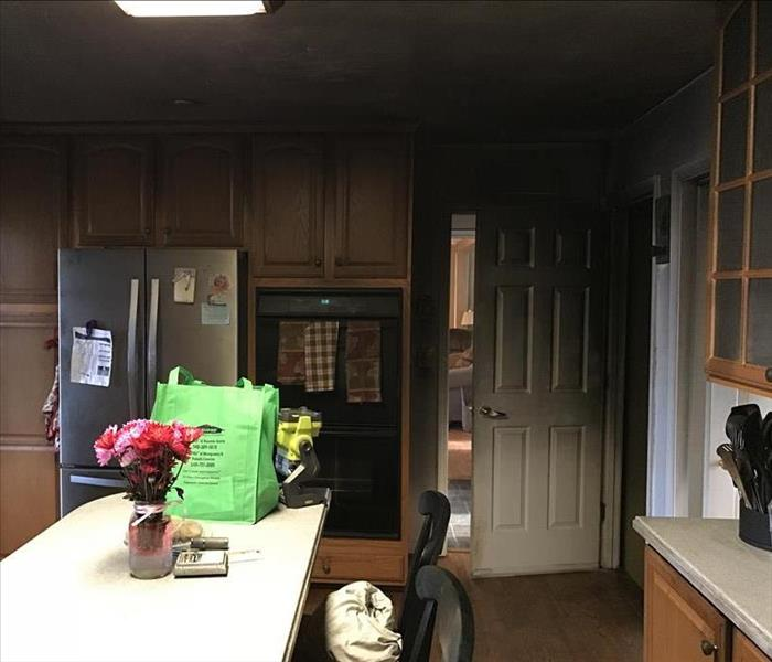 Smoke Damaged Kitchen Is No Match For Our Team! Before