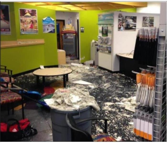 Water Damage Leaves Business With a Large Mess
